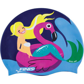 FINIS Mermaid Bonnet De Bain En Silicone Fille, flamingo